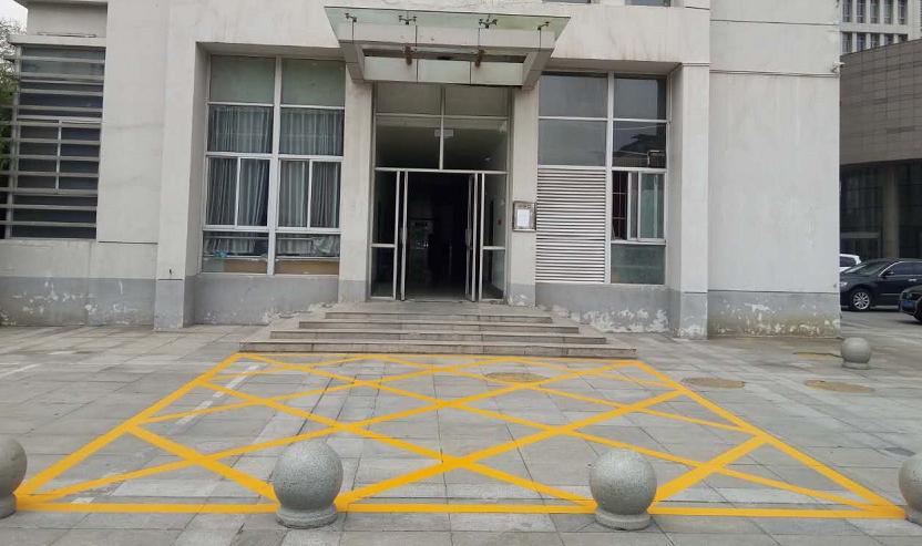 洛龙区政府划线禁停网格