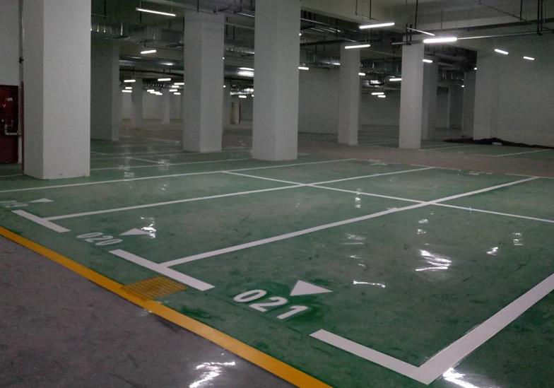 环氧地坪地下停车划线